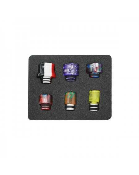 Pack of 6 resine drip tip 510-1