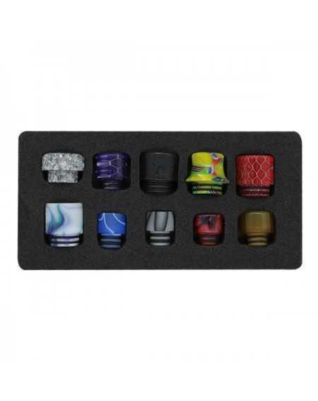 Pack of 10 resin drip tips 510 & 810-1