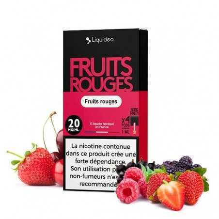 Cartridges nicotine salt Fruits Rouges - Wpod de Liquideo-1